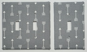 Wall Plate - Arrow Design Grey