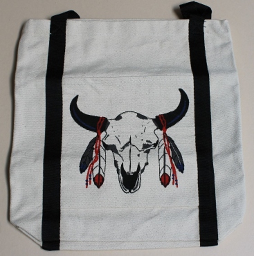 Canvas Totes-Buffalo Skull