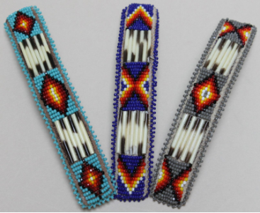 Large Beaded Barrette with Quill