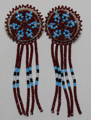 Rosette Earrings with Dangles