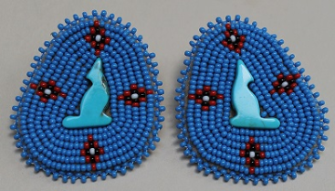 Semi Precious Stone & Bead Earrings - Howling Coyote 2