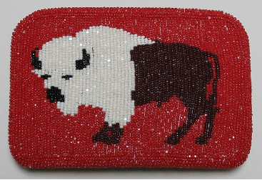 Belt Buckle - Beaded Buffalo