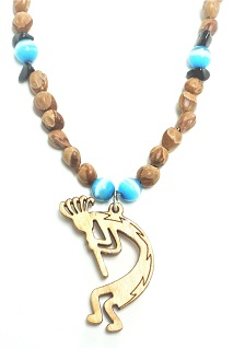 Cedar Berry Necklace - Kokopelli