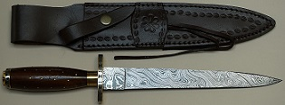 Knife - Damascus Toothpick w/ Sheath