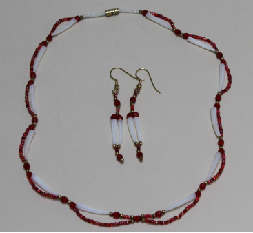 Dentalium Necklace Set