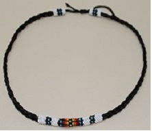 Hat Band - Braided Horse Hair with Beadwork