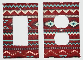 Wall Plate - Native Design Maroon