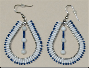 Beaded Tear Shape with Dangle Earring
