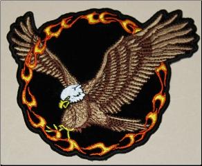 Patch - Eagle in Ring of Fire