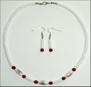 Heishi Necklace and Earring Set