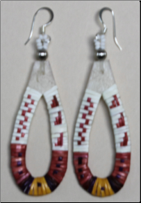 Porcupine Quill Earrings - Hoop Shaped