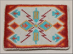 Beaded Sioux Design Belt Buckle