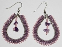 Beaded Tear Shape Earring