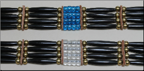 (4 Row) Buffalo Hairpipe Choker