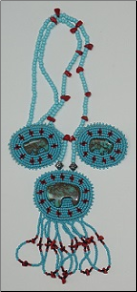 Beaded Medallion Necklace & Earrings - Buffalo