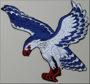 Patch - Large Flying Eagle, Blue