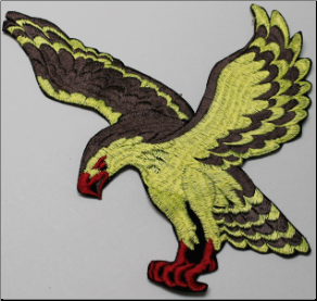 Patch - Large Flying Eagle, Brown/Yellow
