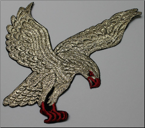 Patch - Large Flying Eagle, Gold