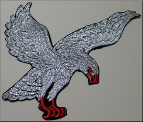 Patch - Large Flying Eagle, Silver