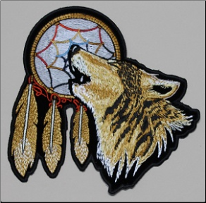 Patch - Howling Wolf with Dreamcatcher