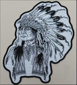 Patch - Indian Chief Feather