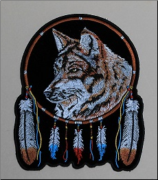 Patch - Wolf and Feathers