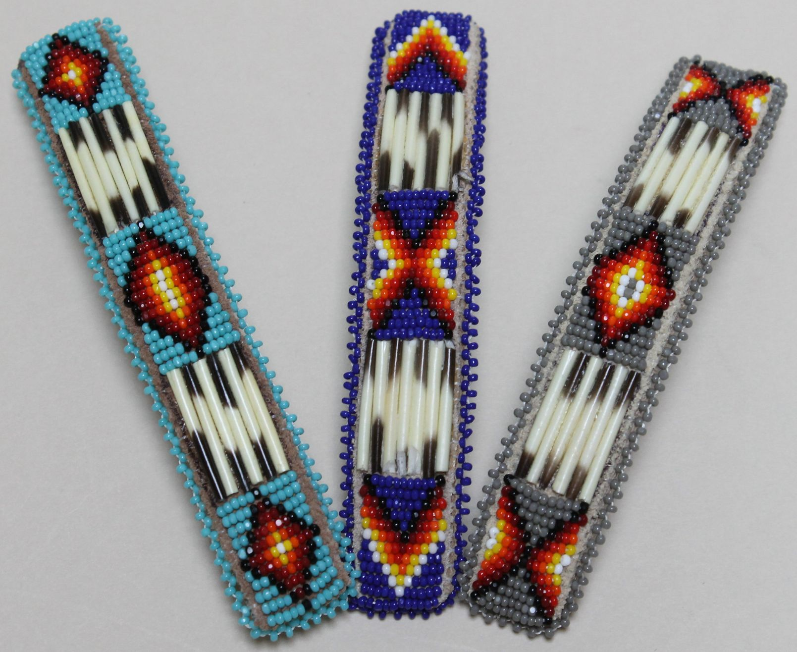 21695ac3bfcd0 Large Beaded Barrette with Quill